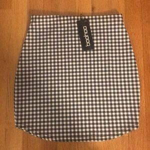 Checker print mini skirt